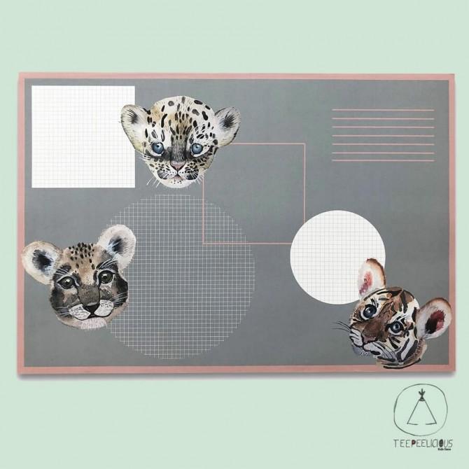 Deskpad Wild baby animals