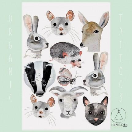 """Tattoo organic """"Animal Friends"""""""
