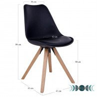 Dining chair BERGEN black