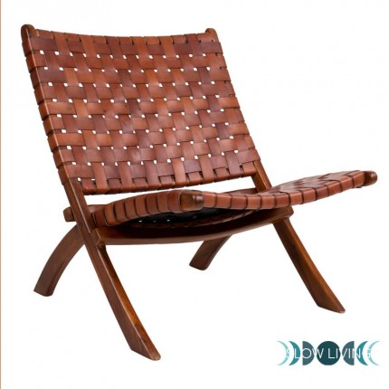Folding leather chair Perugia