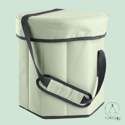 Cooler bag with seat - green