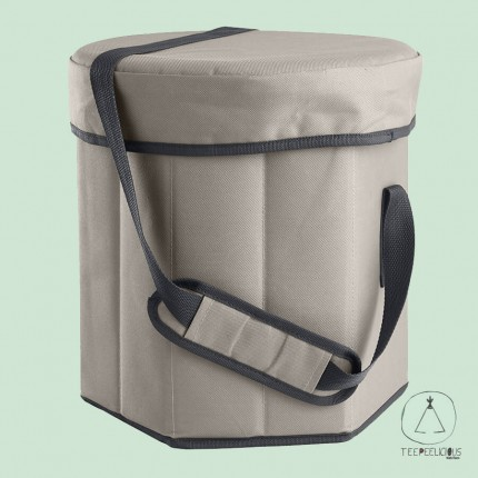 Cooler bag with seat - grey