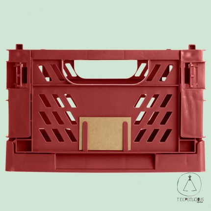 FOLDABLE CRATE RED L