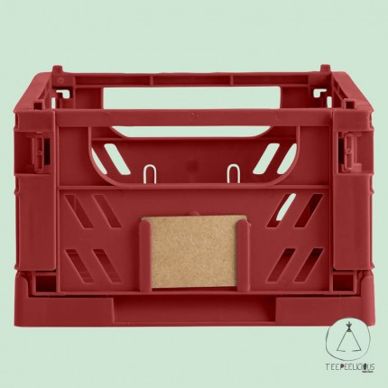 FOLDABLE CRATE RED S