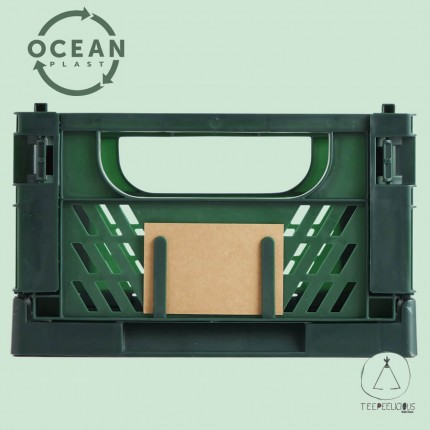 FOLDABLE CRATE GREEN ECO M