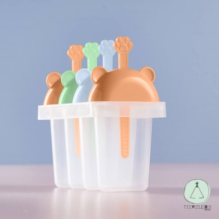 Ice pops forms - bear