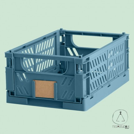 FOLDABLE CRATE BLUE S