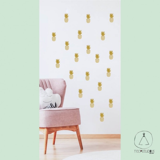 """Wall stickers """"Gold pineapples"""""""