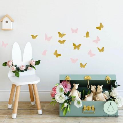 """Wall stickers """"Butterflies"""" pink"""