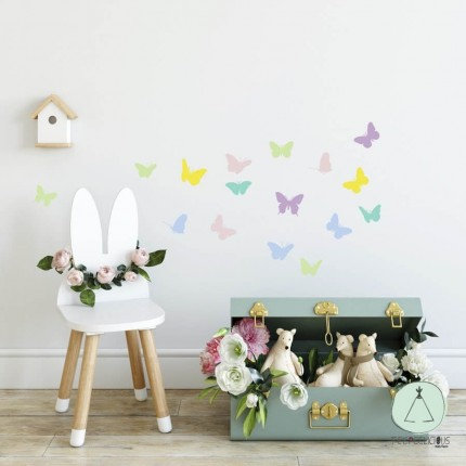 """Wall stickers """"Butterflies"""" pastel"""