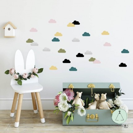 """Wall stickers """"Clouds"""" multicolor"""