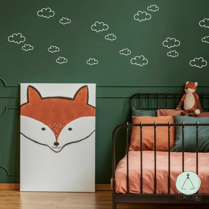 """Wall stickers """"Clouds"""" white"""
