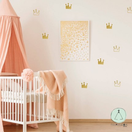 """Wall stickers """"Gold crowns"""""""