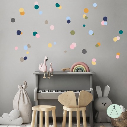 """Wall stickers """"Dots"""" multicolor"""