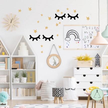 "Wall stickers ""Eyelashes stars"""