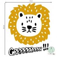 "Wall sticker ""lion"""