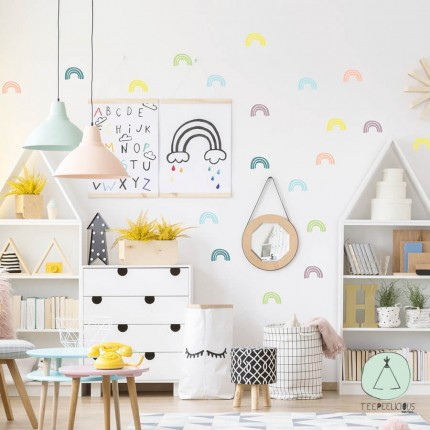 """Wall stickers """"Rainbow pastels"""""""
