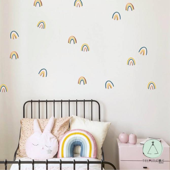 "Wall stickers ""Rainbows mix"""
