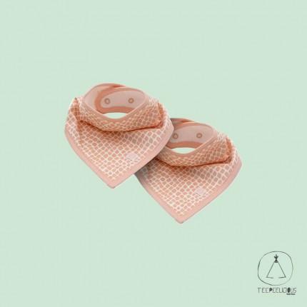 Bandana bib snake pink set of 2