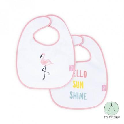 "Bib ""Flamingos"" set of 2"