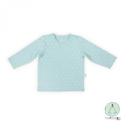 Shirt  green hearts 50/56
