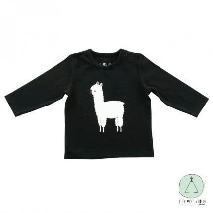 Shirt lama black 74/80