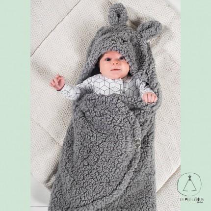 Wrap blanket Bunny grey