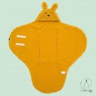 Wrap blanket Bunny mustard