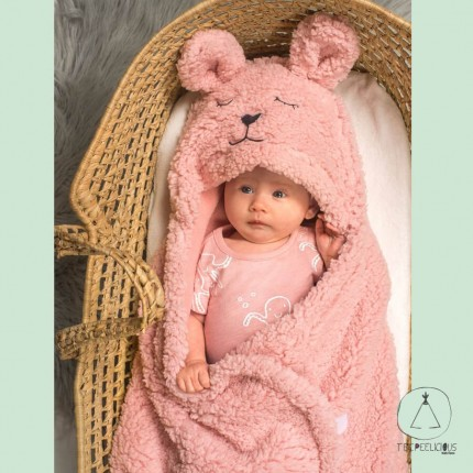 Wrap blanket Bunny pink