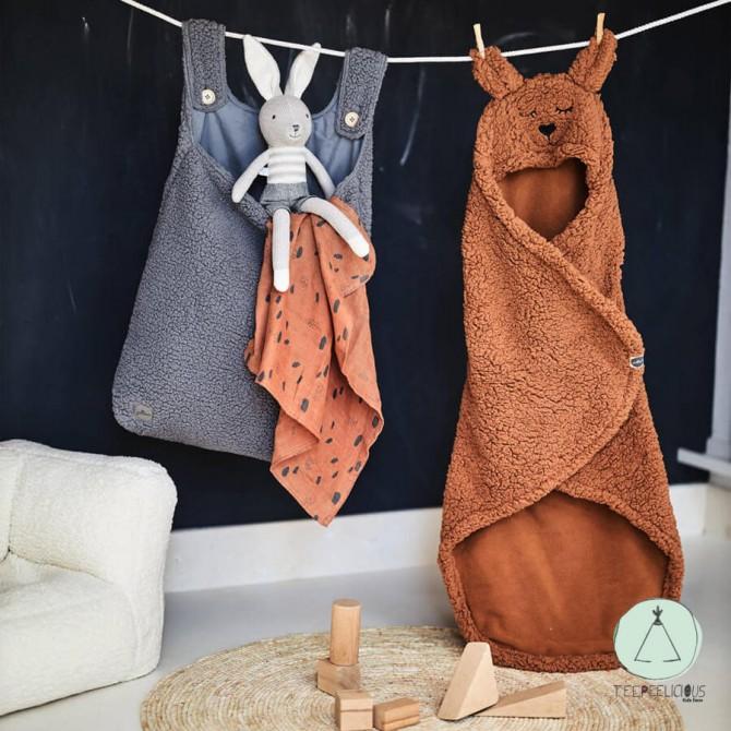 Wrap blanket Bunny caramel