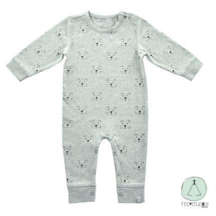 Playsuit lion grey 62/68