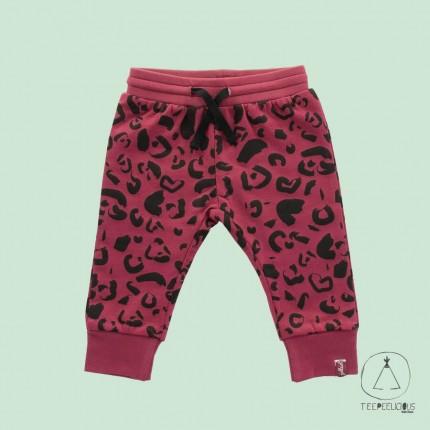 Pants Leopard marron red 62/68
