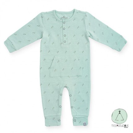 Jumpsuit forest green 62/68