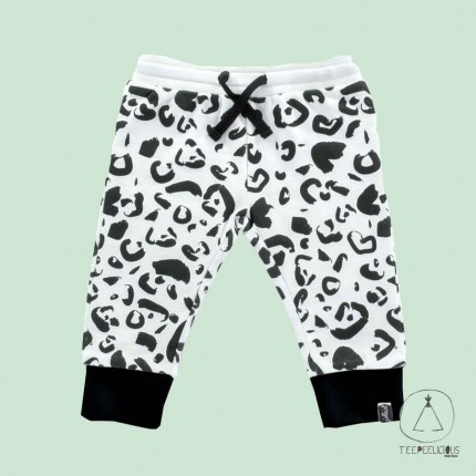 Pants Leopard black & white 62/68