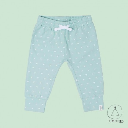 Pants mint hearts 50/56