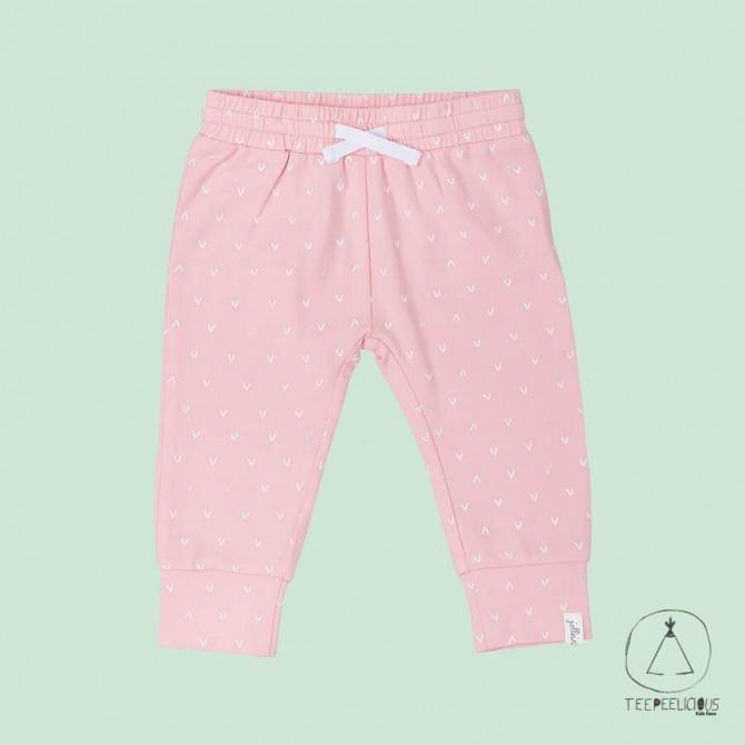 Pants pink hearts 62/68
