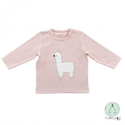 Shirt lama pink 62/68