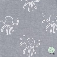 Sleeping bag  summer octopus grey 90cm