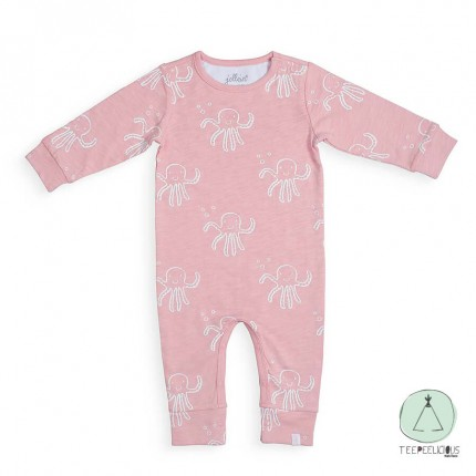 Playsuit octapus pink 50/56