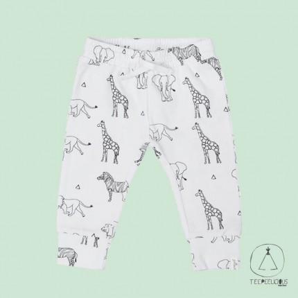 Pants safari black & white 62/68