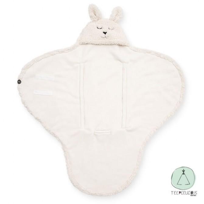 Wrap blanket Bunny off-white
