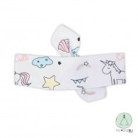 Baby Headband unicorns- 100% organic cotton
