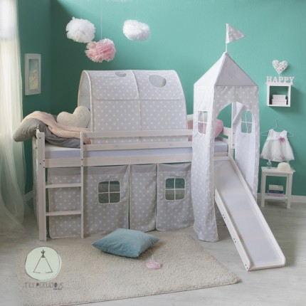 Castle bed grey
