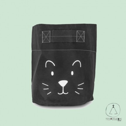 BASKET PAPER  LITTLE LION BLACK XL