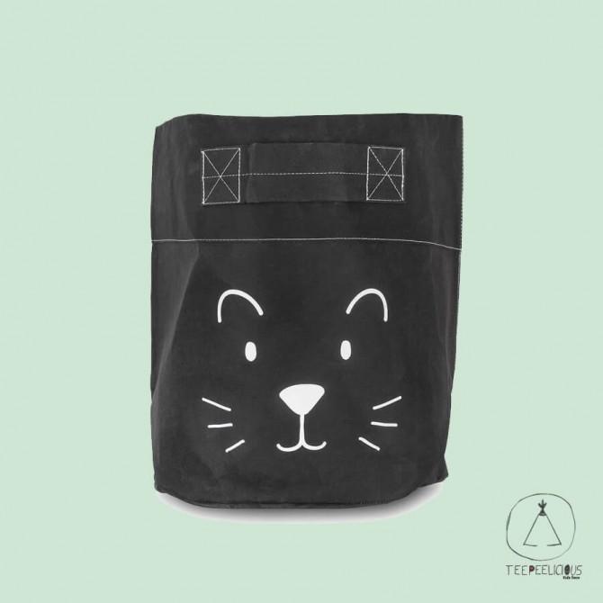 BASKET PAPER  LITTLE LION BLACK XL