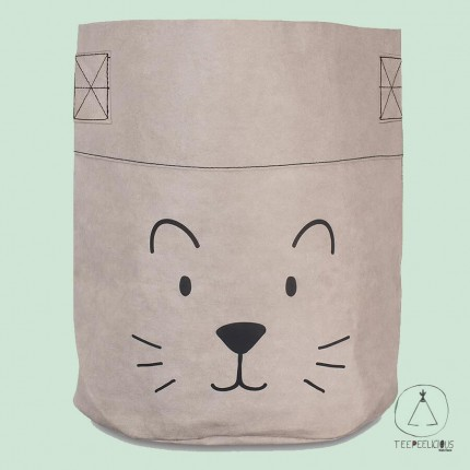 BASKET PAPER  LITTLE LION GREY XL