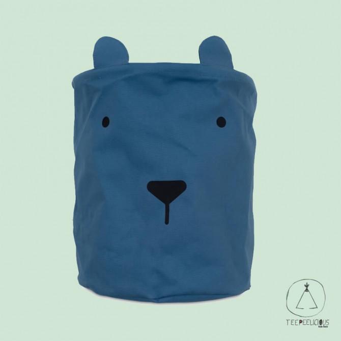 BASKET ANIMAL BLUE