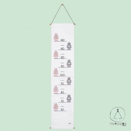 GROWTH CHART ROBOT PINK