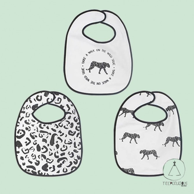 "Bib ""leopard"" set of 3"