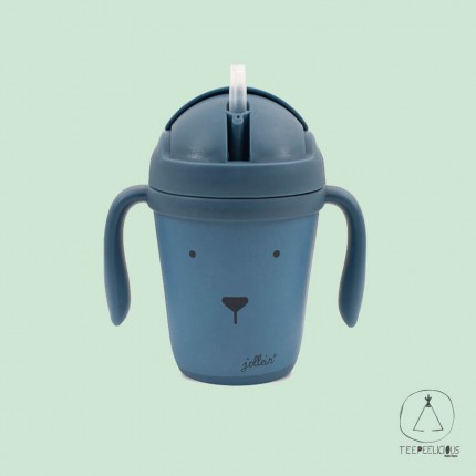 Bamboo cup animal blue
